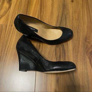 Ann Taylor Snakeskin Wedge Heels